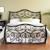 Indus Cast Bed - King Size Aged Iron