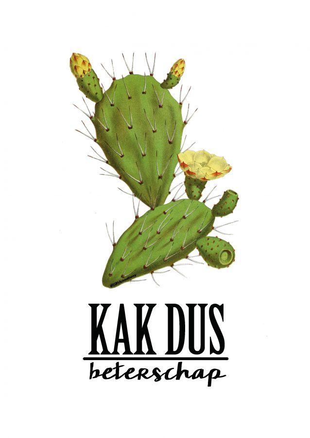 Postkaart KAK beterschap Deze geweldig KAK beterschap kaart is een ontwerp van Lumacreation. Het ontwerp is helemaal van nu. Vintage feel met de o zo trendy cactus in combi...