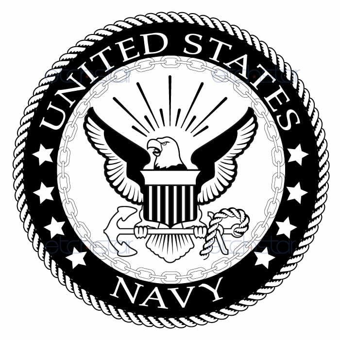 """US Navy Large Back Patch Black & White for Vest Jacket 10 inch. SIZE: 10"""" Biker Motorcycle Patches, Great High definition Coloring. Embroidered patches for jacket vest or shirt. High quality stitching"""