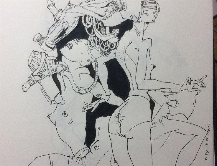 "359 gilla-markeringar, 5 kommentarer - John Mahoney (@mahoney_artworks) på Instagram: ""Drawing #2 #drawing #doodle #dailydrawing #dailydrawingdose #figuremodel #art #artwork #comics…"""