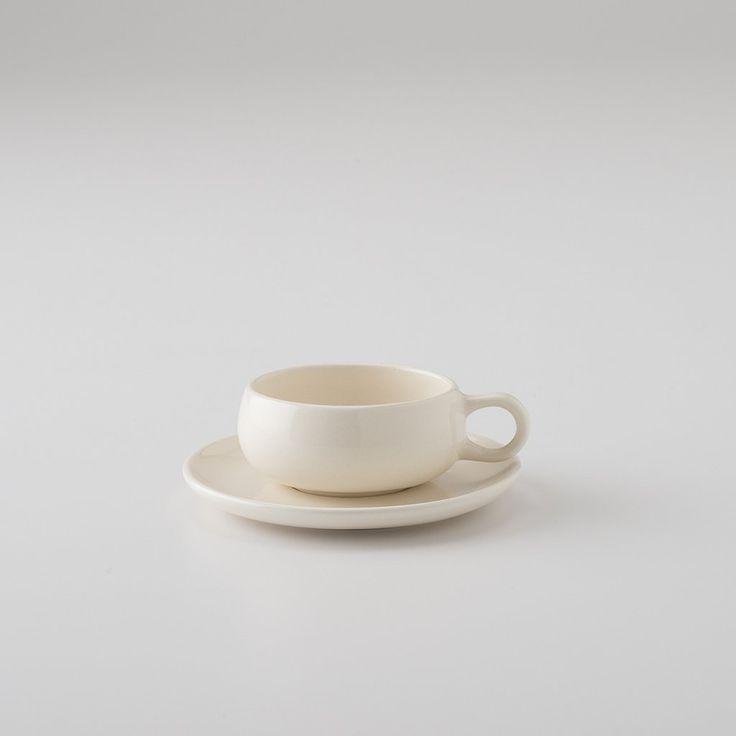 American Modern Cup + Saucer - Cream