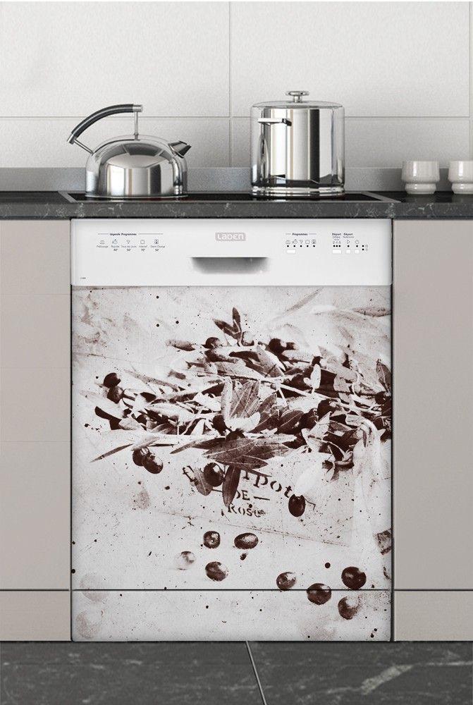 Provence,  Stickers Lave-vaisselle - Stickers électroménager #sticker #électroménager #deco #intérieur #papierpeint #surmesure #peinture #graphisme #wallpaper #lavevaisselle