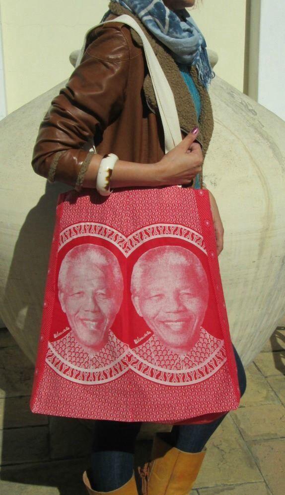 My new Mandela bag...www.bigheartcompany.com enquiries welcome ....