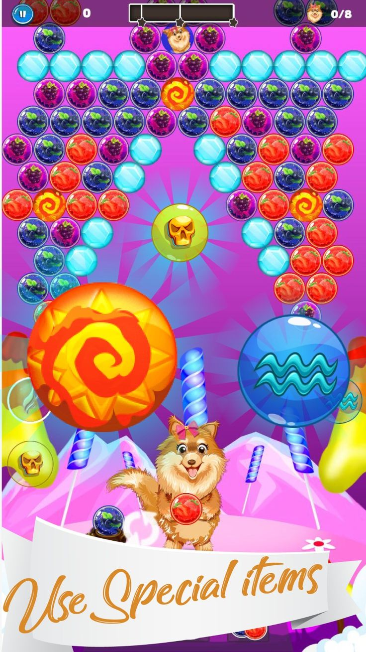 You have to make the strategy to #blast the similar #color #balls to pop them up. The more #balls #combinations you will pop #together, the higher scores you will get. #doggy #bubble #shooter #shoot #game #new