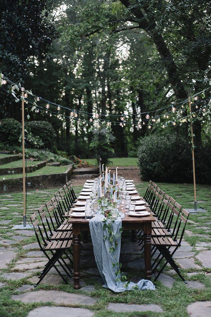 A simple garden tablescape. #wedding #weddinginspiration #gardenwedding