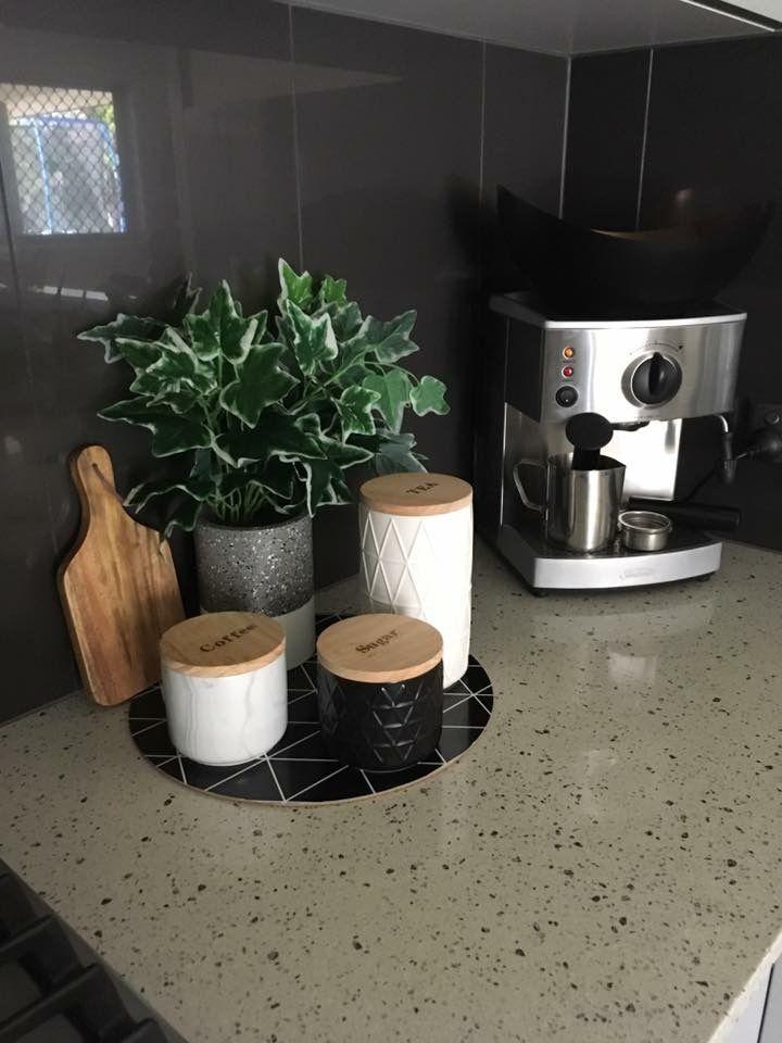 Minimalist Coffee Station With Coffee Machine And Ceramic