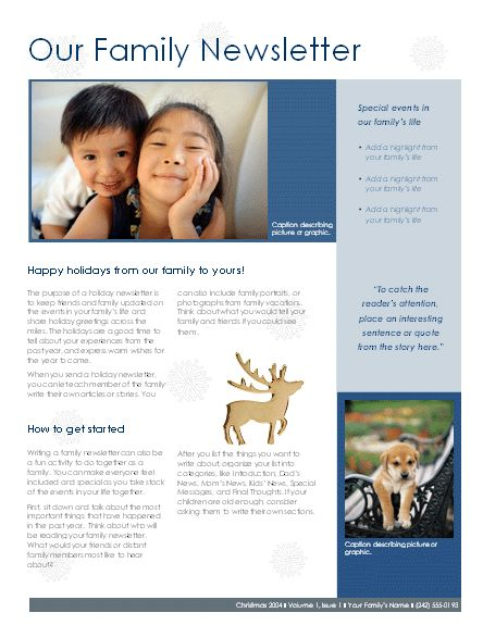 8 best images about Family Newsletter Ideas on Pinterest