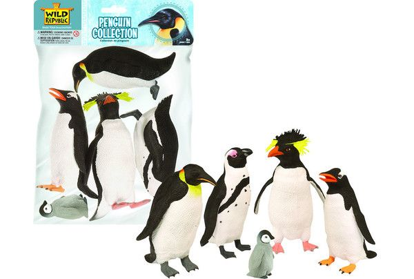 Wild Republic Penguins - Recreate a penguin scene by freezer water to make icebergs and fill up a container of water, add a few drops of blue coloring to make the ocean then add the penguins.  They may not be able to fly but they sure know how to swim, they can hold their breath for 20 minutes underwater!!  Ages 4+