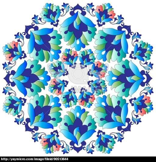 Ottoman motifs design series with thirteen version