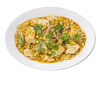 トウモロコシとセロリのスパイシー豆腐の作り方・レシピ   暮らし上手