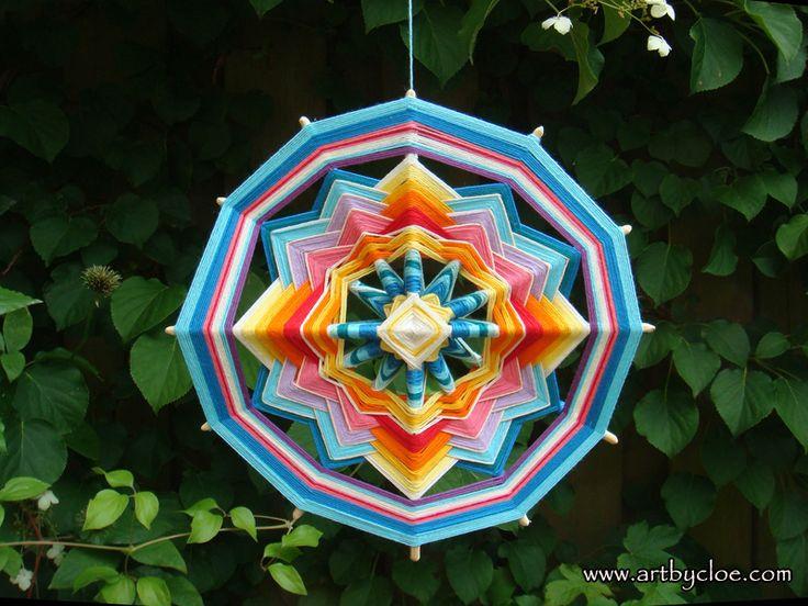 12 Sided Woven Mandala Or Ojos De Dios Eye Of God