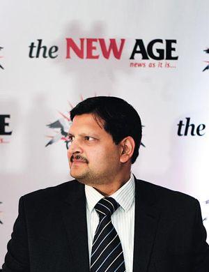 Atul Gupta. The Gupta family, main shareholder of The New Age, has close links with Jacob Zuma. (Picture: Leon Sadiki)