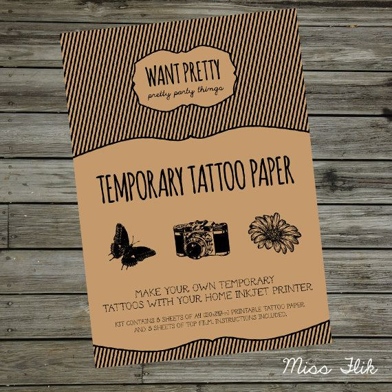 Best 25 temporary tattoo paper ideas on pinterest for Temporary tattoo printer
