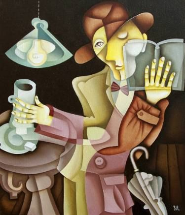 Coffee and Book by Eugene Ivanov, oil on canvas, 50 X 60 cm, $ 990. #eugeneivanov #@eugene_1_ivanov #modern #original #oil #watercolor #painting #sale #art_for_sale #original_art_for_sale #modern_art_for_sale #canvas_art_for_sale #art_for_sale_artworks #art_for_sale_water_colors #art_for_sale_artist #art_for_sale_eugene_ivanov