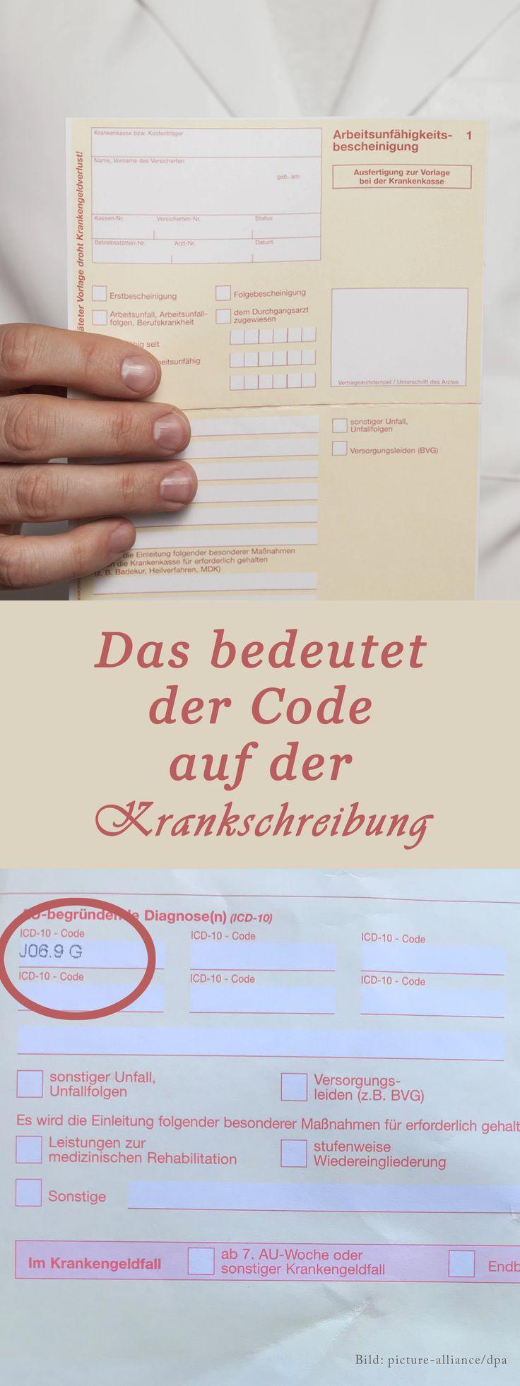 Diagnoseschlüssel: Das bedeutet der ICD-10 Code