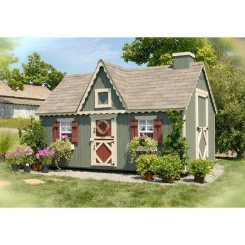 Little Cottage Company Victorian Playhouse Kit with Floor - tree house?