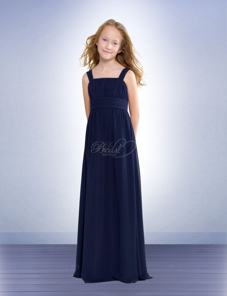 Bill Levkoff Junior Bridesmaids Spring 2011 - Style 38002  Made of graceful, flowing Chiffon, these dresses have vertical pleats accenting the bodice and soft tucked horizontal pleats banding the empire. Delicate gathers have a dramatic effect, giving the bridesmaid dresses' fluid skirt extra fullness and swing.     Customize trim and dress