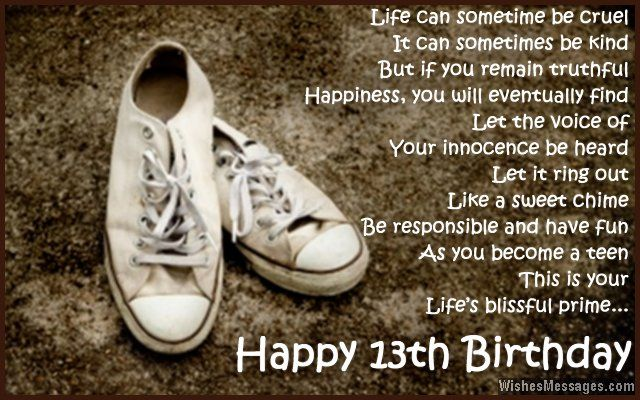 13th Birthday Wishes For Son Or Daughter Everything Pinterest