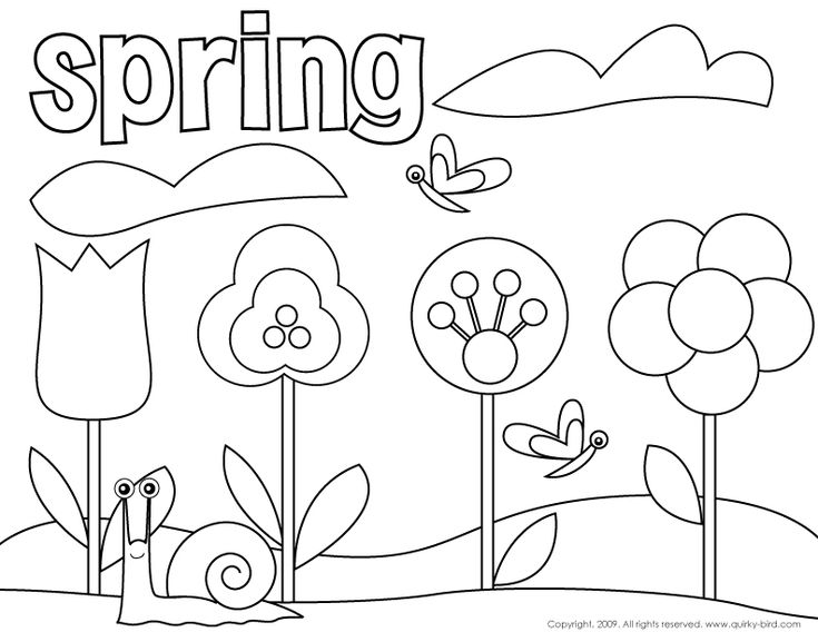 spring birds and flowers coloring pages Jugando en