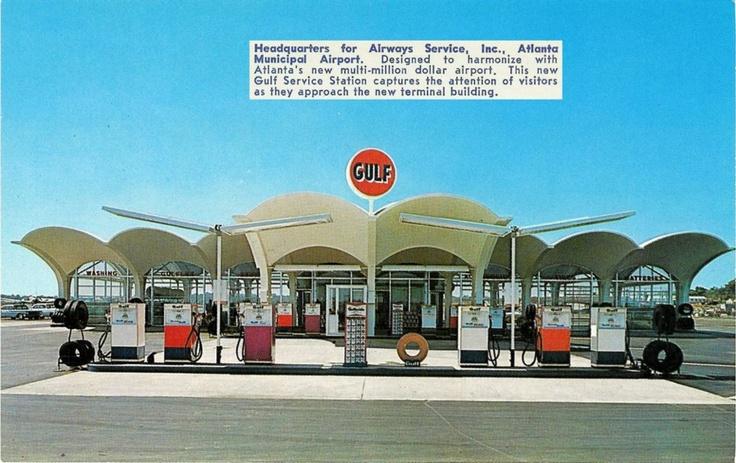 Amazing Gulf gas station at the old Atlanta Municipal Airport