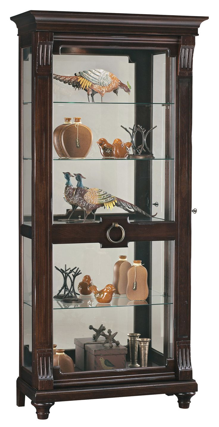 Brenna Curio Cabinet in Charleston Place Brown   Howard Miller   Home  Gallery Stores. 264 best images about Curio Cabinets and Display on Pinterest