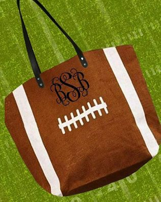 Football Tote Bag by CricutIt on Etsy