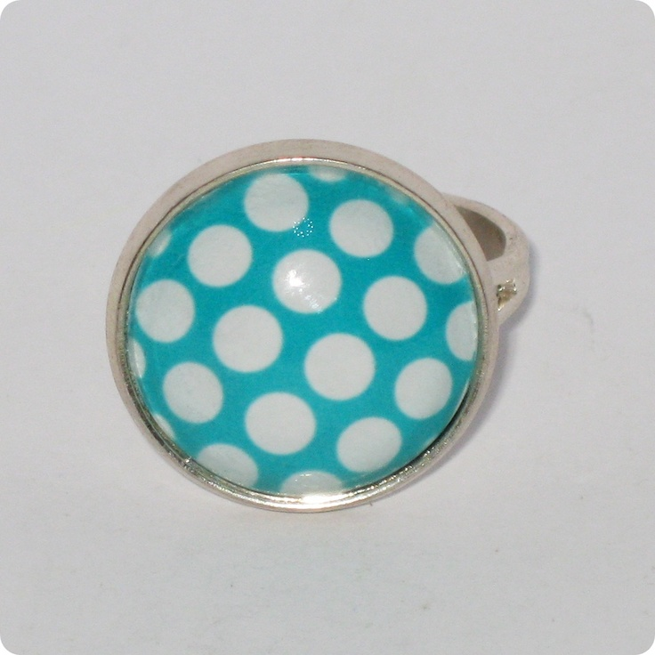 Inel cabochon - Dots are nice