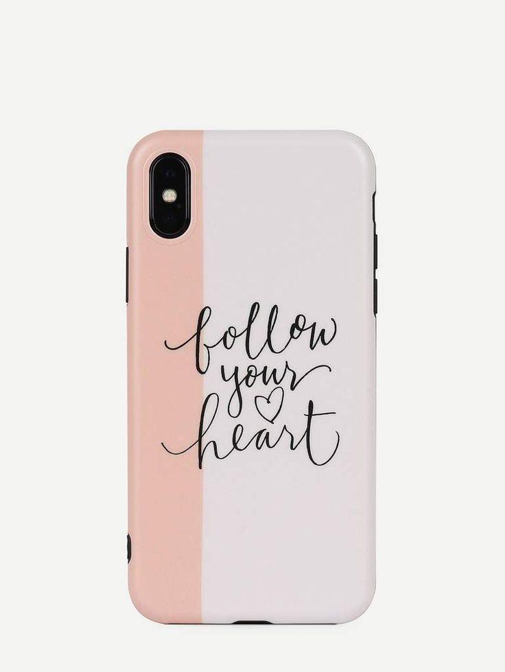 Follow your heart cute lifeproof iphone case pattern