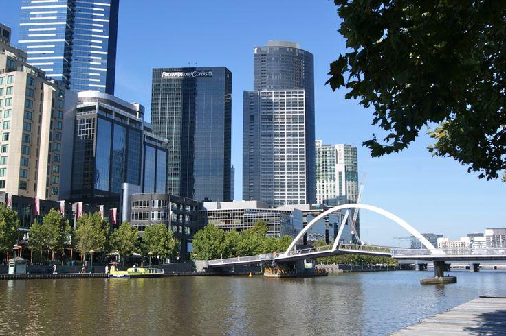 #Travel: #Trinity Pedestrian Bridge, #Melbourne, #Victoria, #Australia.   Photo: D Rudman