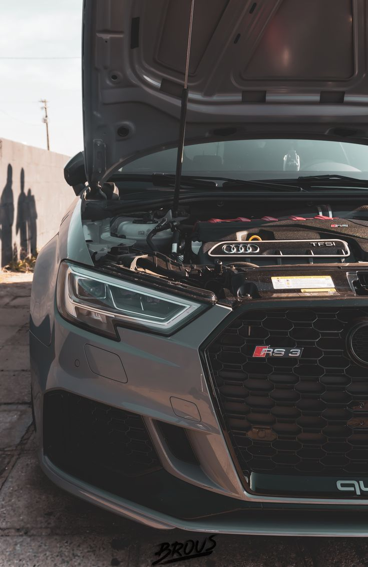 Audi RS3 Nardo Gray Quattro. #audi #Rs3 #arrancada #4x4 #quattro #porngarage #criadoresdarua #acelerados #brasil #germancars #turbo #Brous #RS3 #ozwheels #racing #quattro #germancars #carporn #porngarage #criadoresdarua