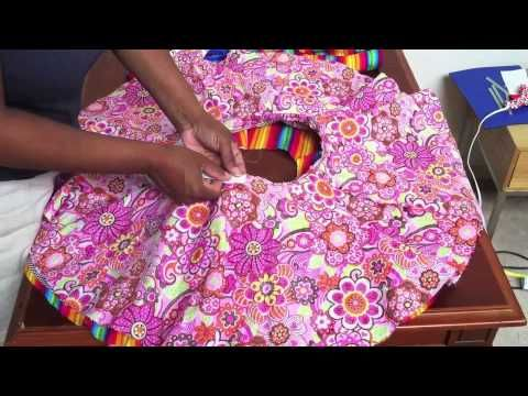 Learn How to make a summer fun  reversible circle skirt for a child!. This is a really easy way to make a skirt with an elastic waistband, and you can decorate it in any number of ways. I used butte rick patter 4593, used pattern piece 7 and cut 2 on the fold.  This skirt is so cute and easy you can easily make it in a couple of hours!      I inv...