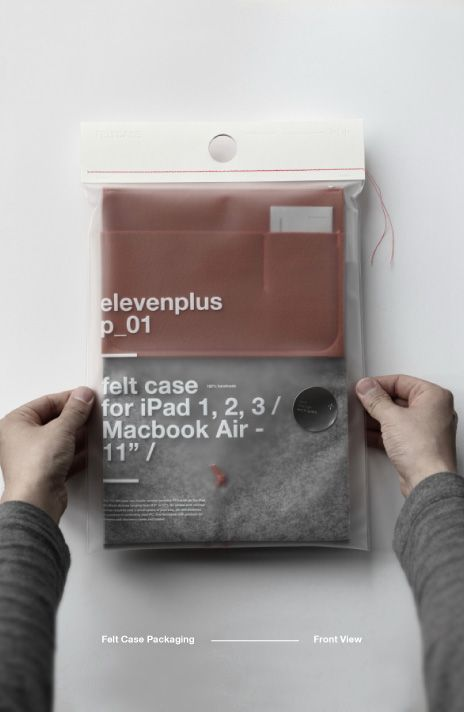 elevenplus | felt case (and packaging!)