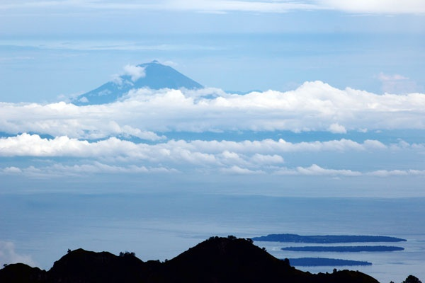 Mt. Agung. Seen from Mt. Rinjani, Indonesia