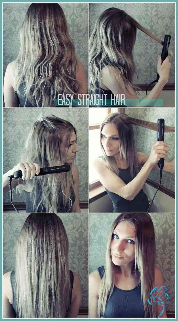 Einfache gerade Frisuren für Mädchen: Wie man Haar gerade macht … | Damen Frisuren