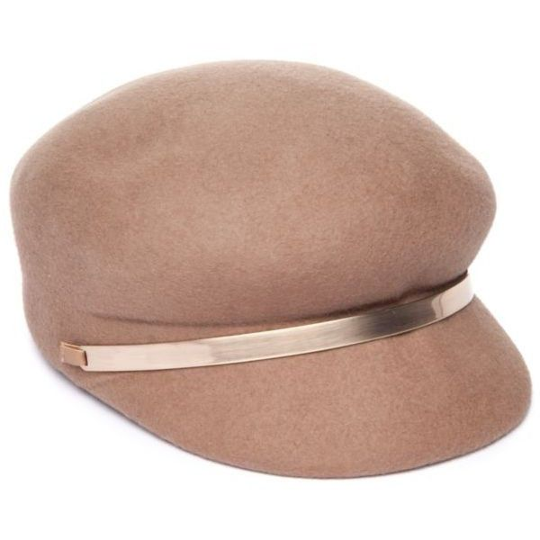 Nine West  Felt Hat ($16) ❤ liked on Polyvore featuring accessories, hats, taupe, nine west, nine west hats and felt hats