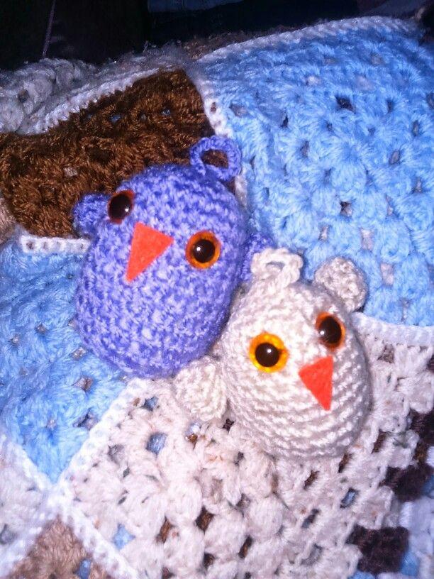 Little crochet birds (own pattern). All ready 4 my easter tree xx