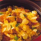 Pilav met paprika en lamsvlees
