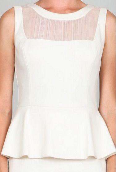 BohoPink - Eva Off White Peplum Dress With Chiffon Detail, $39.00 (http://www.bohopink.com/eva-off-white-peplum-dress-with-chiffon-detail/)
