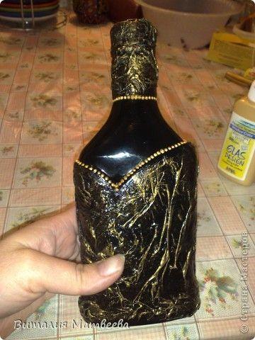 Мастер-класс Моделирование конструирование Как я делала свою бутылочку Небольшой МК Бутылки стеклянные фото 1