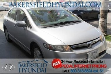 2008 Honda Civic Hybrid at Bakersfield Hyundai! Internet price: $14995 #hybrid #fuelefficient #silver #2008 #hondacivic #carsforsale #bakersfieldca #bakersfieldhyundai