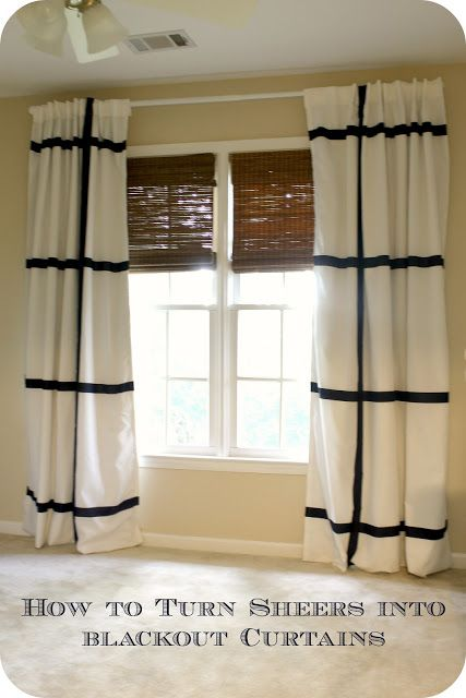 before meets after how to make blackout curtains from sheers nursery curtains that diy party. Black Bedroom Furniture Sets. Home Design Ideas