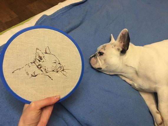 French Bulldog Pdf Cross Stitch Pattern Sleepy Dog Instant Download Pdf Pattern Silhouette Dog Chart Cross Stitch For Dog Lover Machine Embroidery Thread Cross Stitch Dog Chart