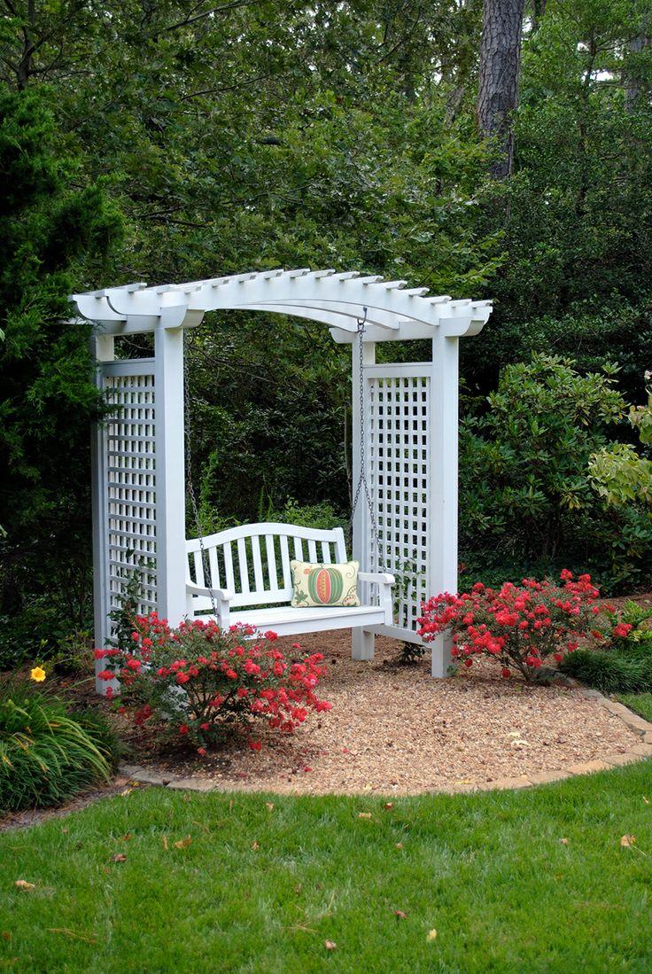 Garden swing with arbor. McDonald Garden Center