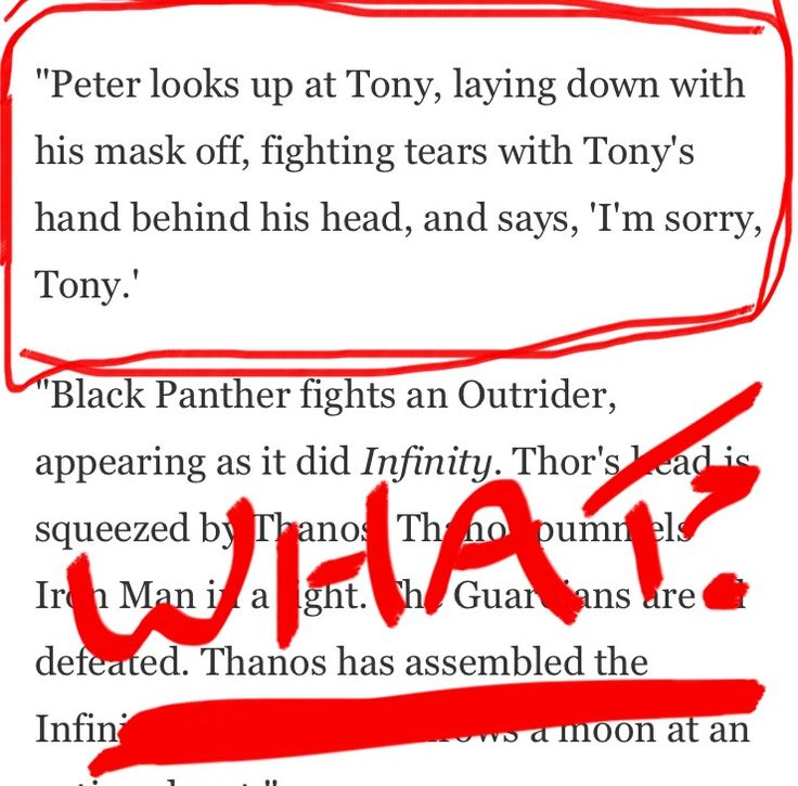 Description of the Infinity War trailer, omg I'm so scared THEY CANNOT HARM PETER