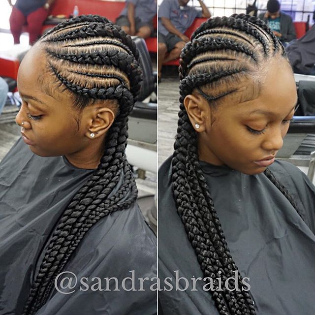 Pin By Quelly On Beautilicious Cornrows With Box Braids