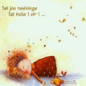 Tel jou seëninge...een vir een... #Afrikaans #blessings #iBelieve #ThankYou