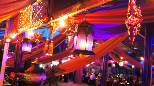 Arabian Event Decor with lights