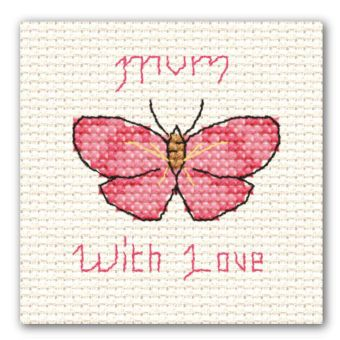Mini Cross Stitch Mother's Day Butterfly
