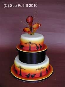 Wedding Cakes with an African theme from Sue Polhill Cakes of ...