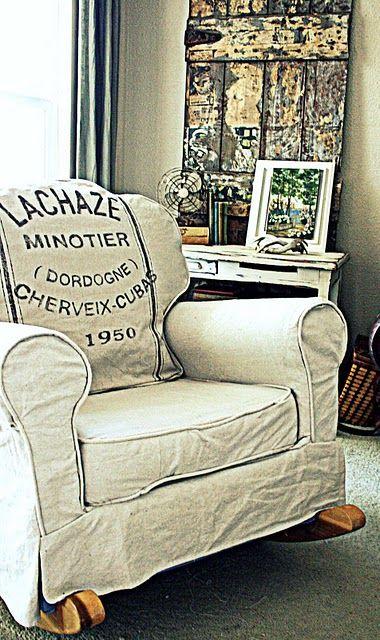 Upholstered Rocking Chair Slipcover Elegant Upholstered